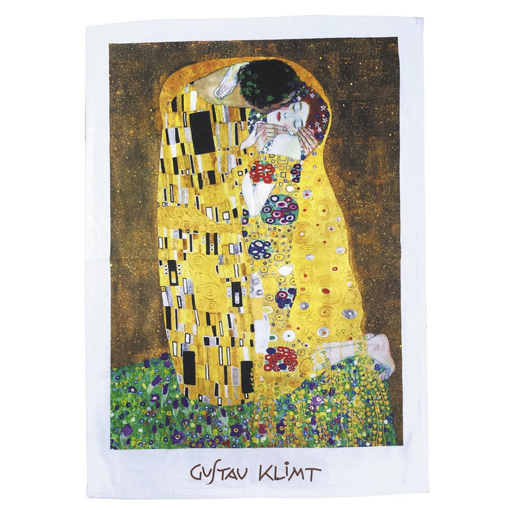 The Kiss, Klimt Tea Towel