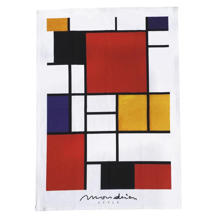 Mondrian Style, Bauhaus Tea Towel
