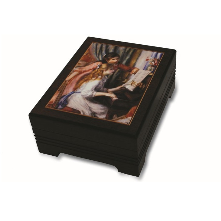 Girls at Piano, Renoir Musical Jewelry Box