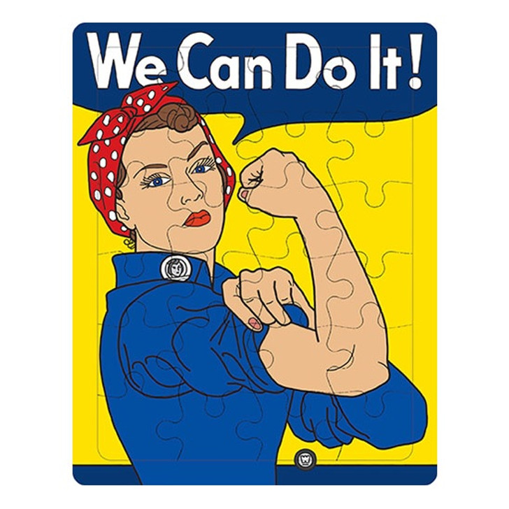 Round Rosie The Riveter Puzzle