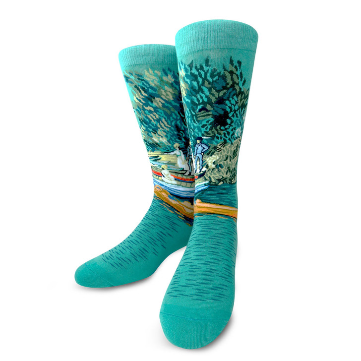 Bank of the Oise at Auvers, Van Gogh Socks