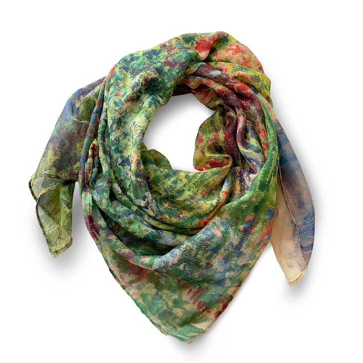 Rounded Flower Bed, Monet Poly Scarf