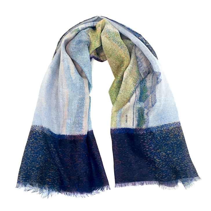 View of Le Crotoy, Seurat Poly Scarf