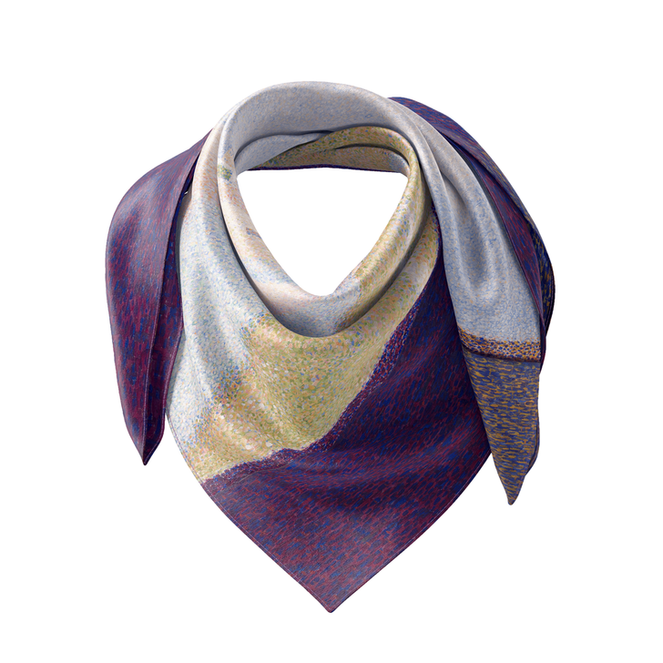 View of Le Crotoy, Seurat Silk Scarf