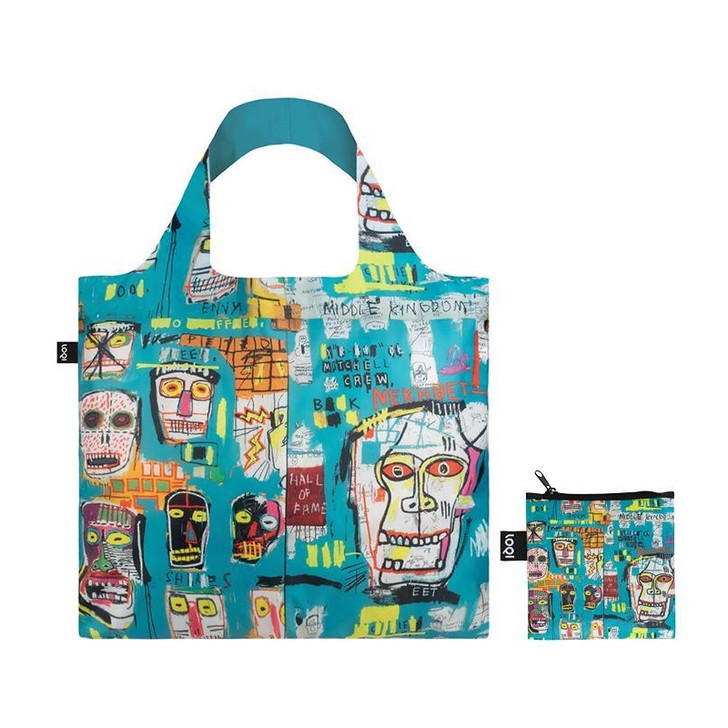 Skulls, Basquiat Tote Bag with Pouch
