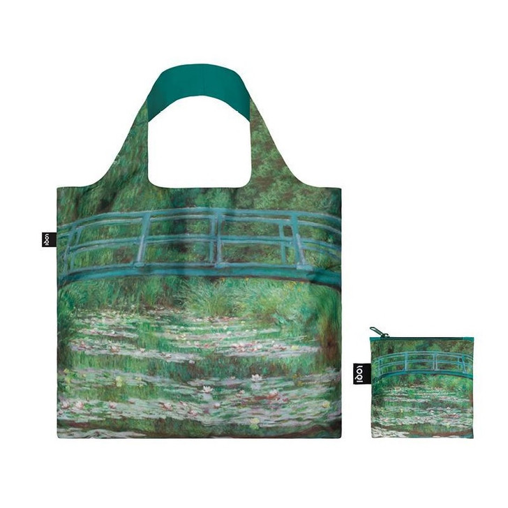 The Japanese Footbridge, Monet Tote Bag with Pouch