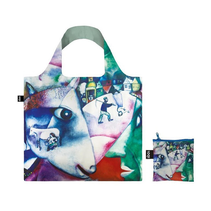 I and the Village, Chagall Tote Bag with Pouch