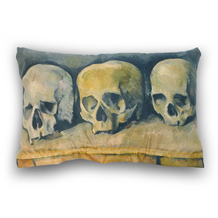 The Three Skulls, Cezanne Rectangle Pillow