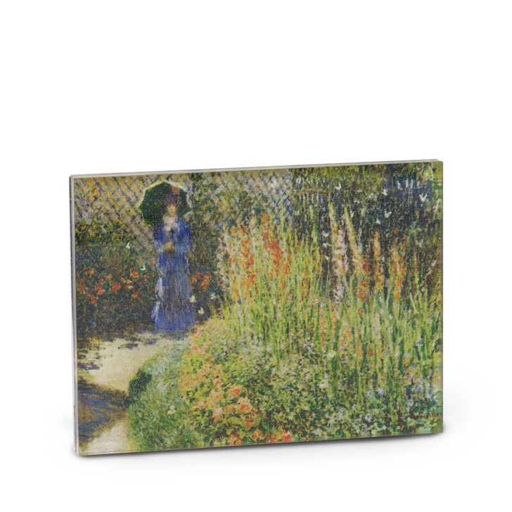 Round Flower Bed (CDF), Monet Acrylic Magnet