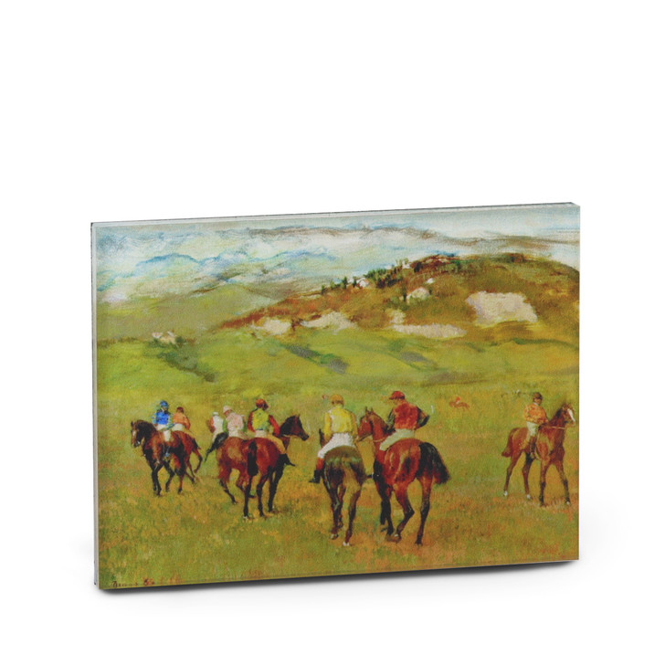 Jockeys on Horseback before Distant Hills, Degas Acrylic Magnet