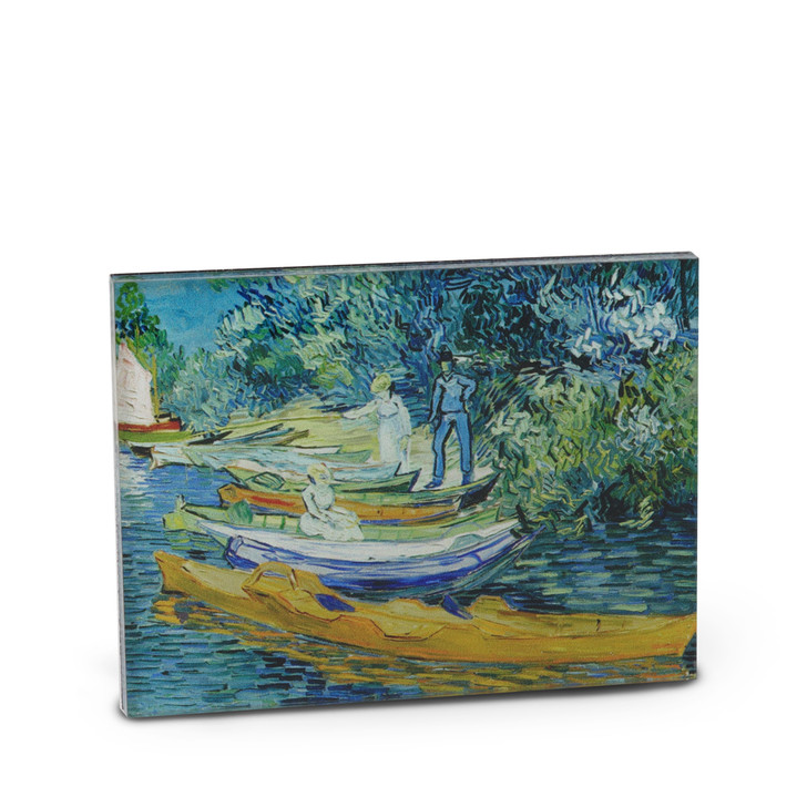 Bank of the Oise at Auvers, Van Gogh Acrylic Magnet
