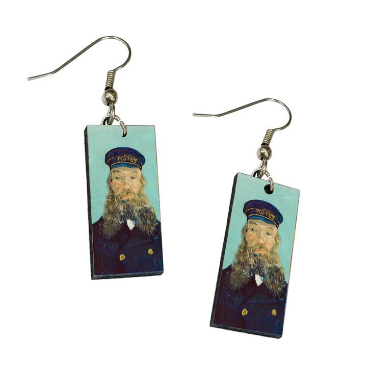 Portrait of Postman Roulin, Van Gogh Dangle Earrings