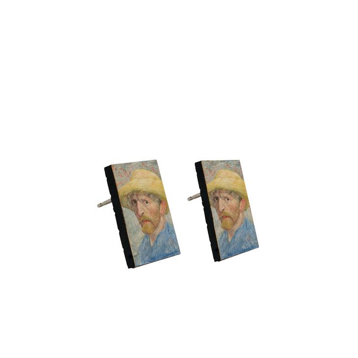 Self-Portrait, Van Gogh Stud Earrings