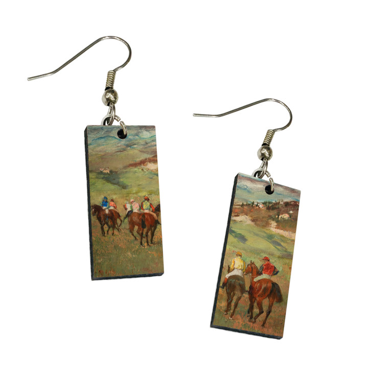 Jockeys on Horseback , Degas Dangle Earrings