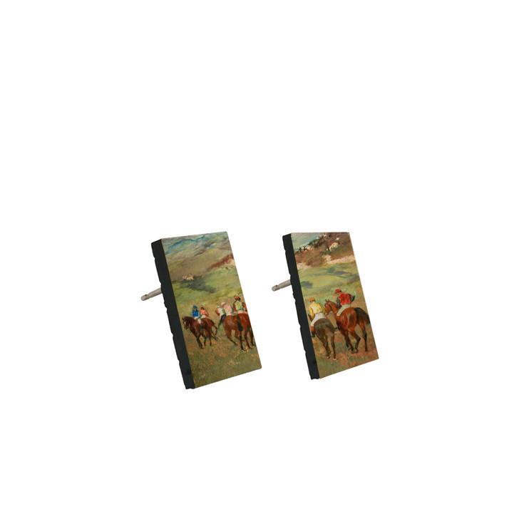 Jockeys on Horseback , Degas Stud Earrings