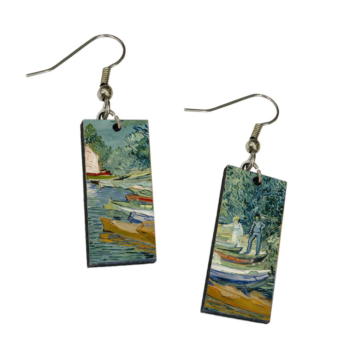 Bank of the Oise at Auvers, Van Gogh Dangle Earrings