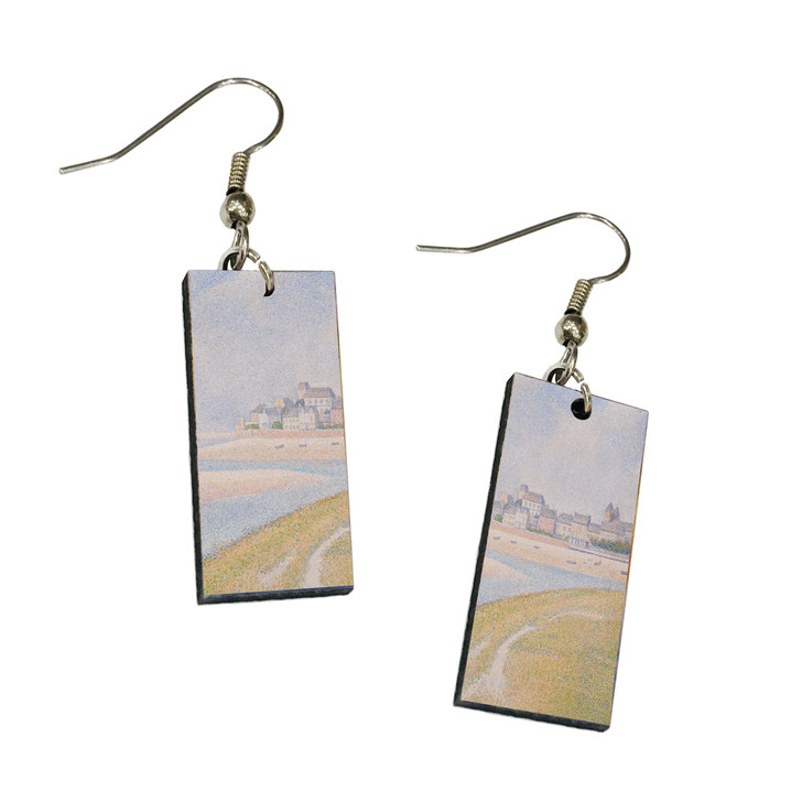 View of Le Crotoy, Seurat Dangle Earrings