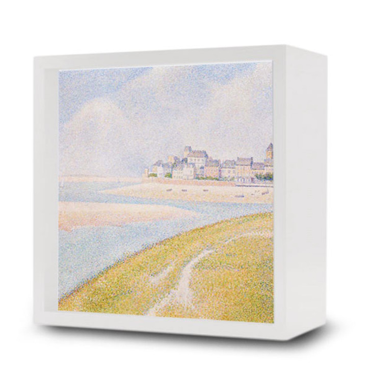 View of Le Crotoy from Upstream, Seurat Light Box
