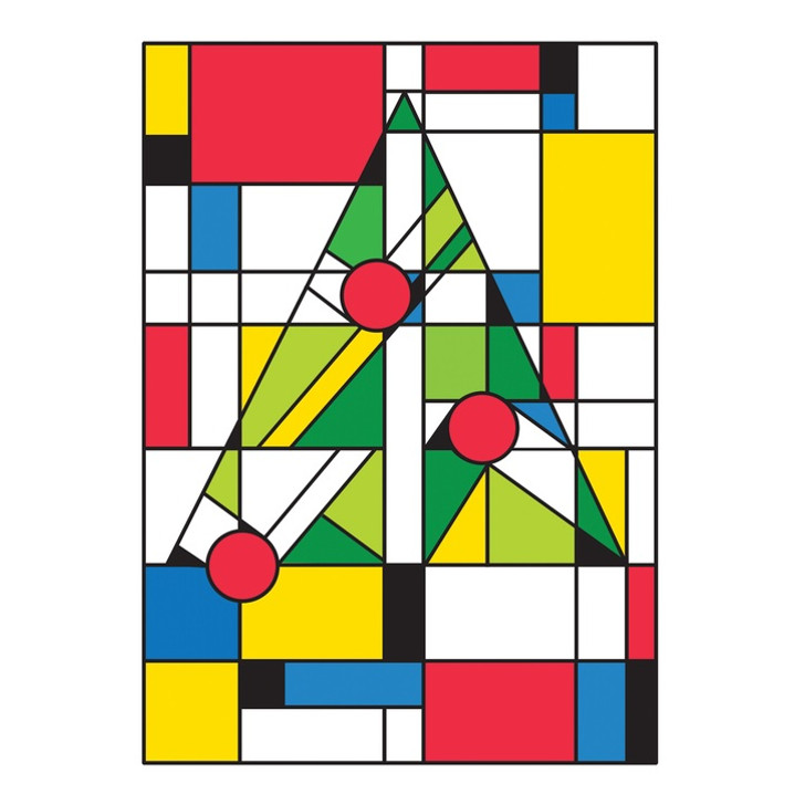 Mondrian Christmas Boxed Holiday Cards