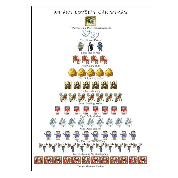 Art Lover's Christmas Boxed Holiday Cards