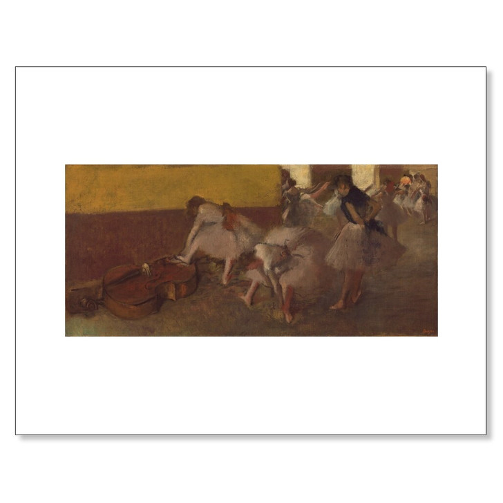 Dancers in the Green Room, Degas 11 x 14 Print