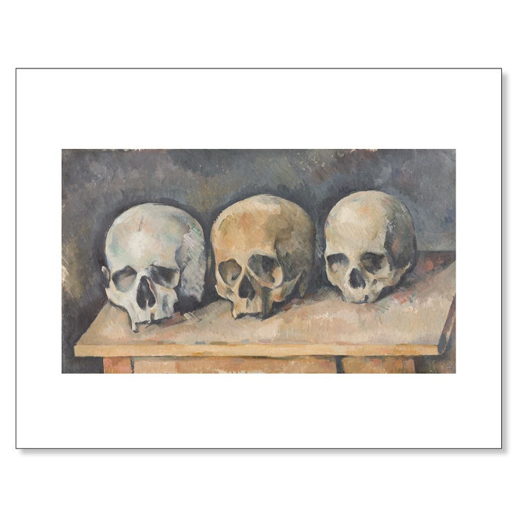 The Three Skulls, Cezanne 11 x 14 Print