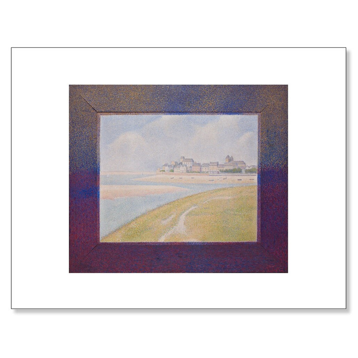 View of Le Crotoy from Upstream , Seurat 11 x 14 Print