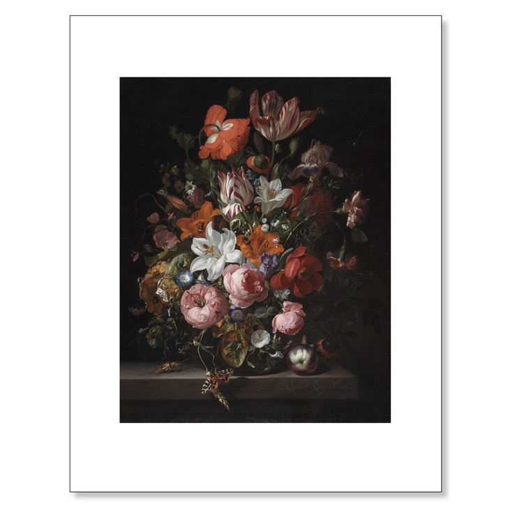 Flowers in a Glass Vase, Ruysch 11 x 14 Print