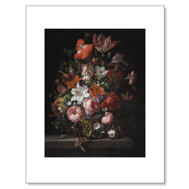 Flowers in a Glass Vase, Ruysch 11 x 14 Print