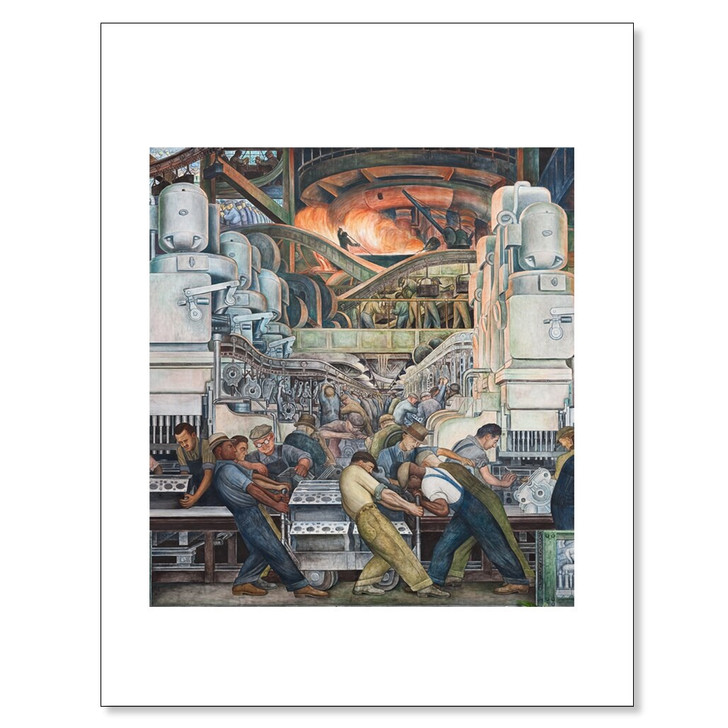 Detroit Industry Murals North Wall Furnace Detail, Rivera 11 x 14 Print