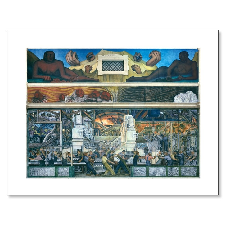 Detroit Industry Murals North Wall, Rivera 11 x 14 Print