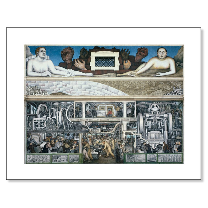 Detroit Industry Murals, South Wall, Rivera 11 x 14 Print