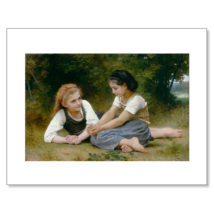 The Nut Gatherers, Bouguereau, 11 x 14 Print