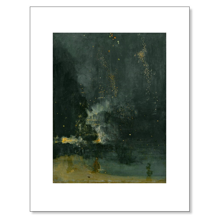 Nocturne in Black and Gold, Whistler 11 x 14 Print