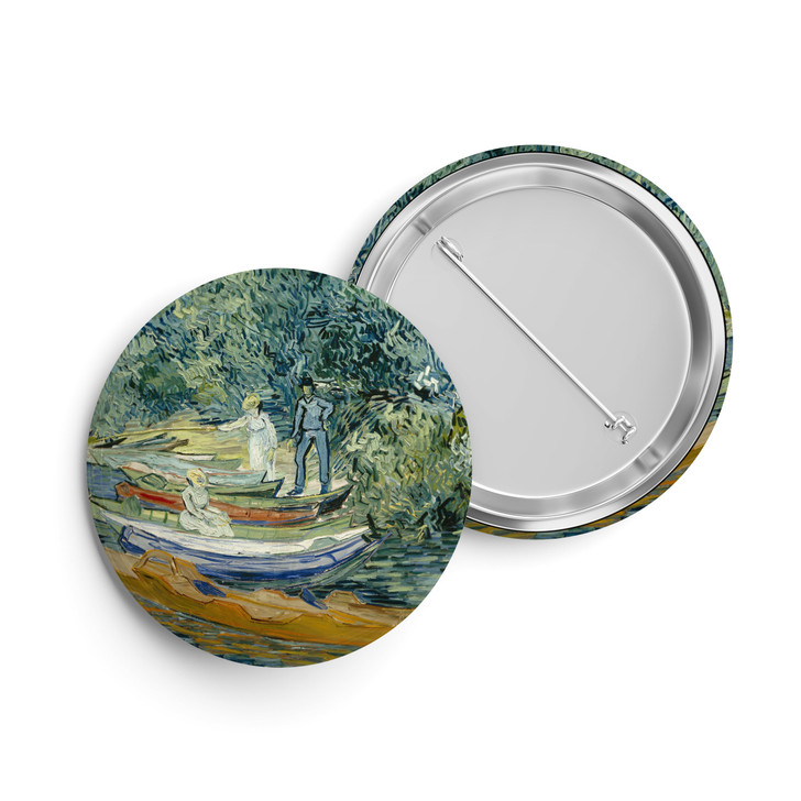 Bank of the Oise at Auvers, Van Gogh Button