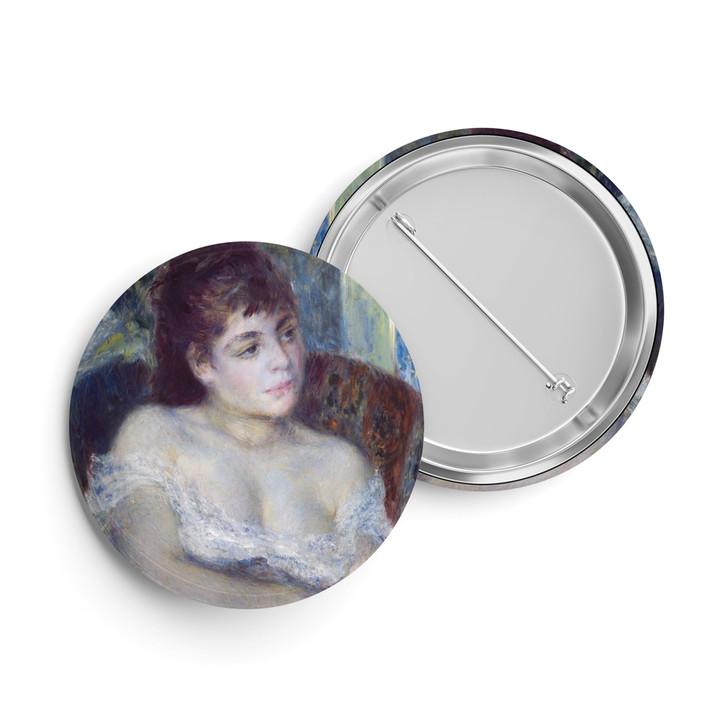 Woman in an Armchair, Renoir Button