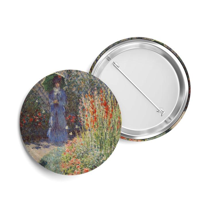 Rounded Flower Bed (Corbeille de fleurs), Monet Button