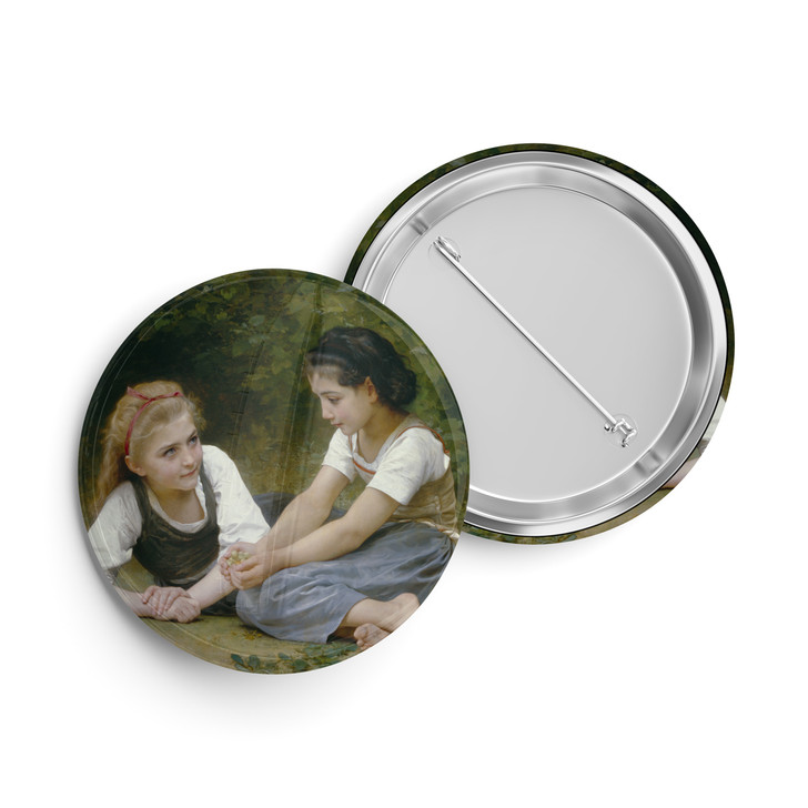 The Nut Gatherers, Bouguereau Button