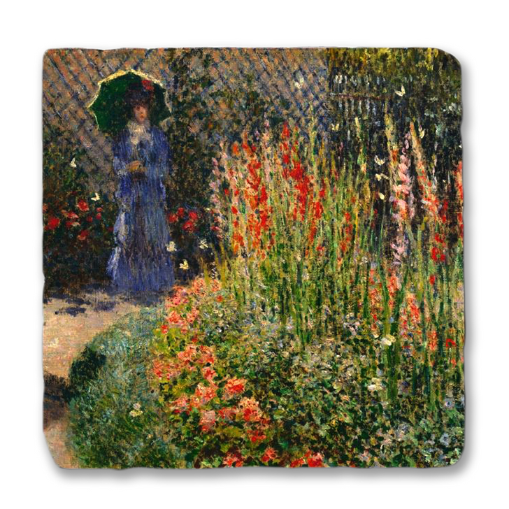 Rounded Flower Bed (Corbeille de fleurs), Monet Trivet