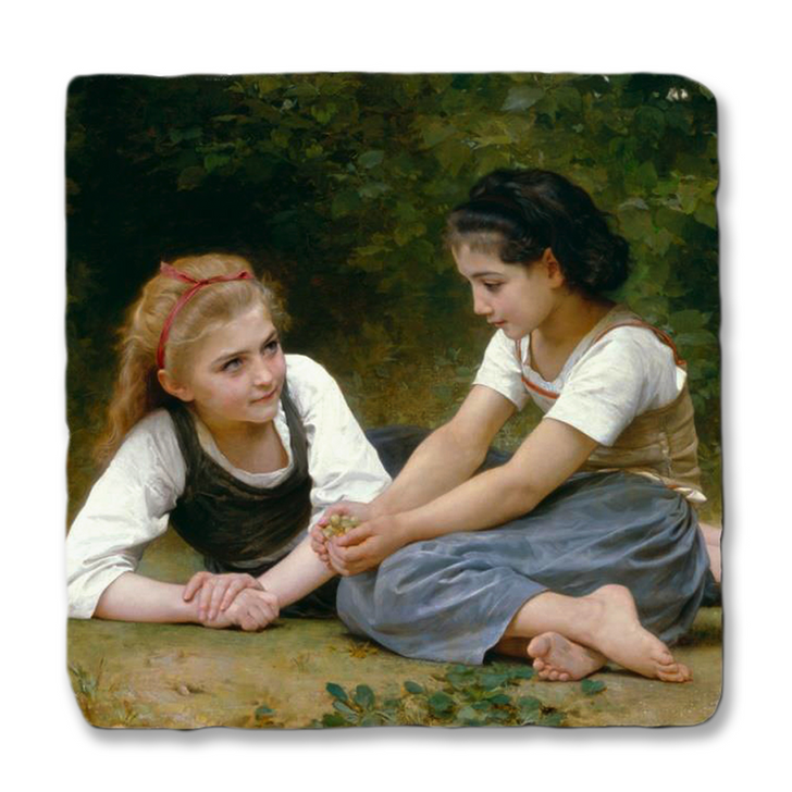The Nut Gatherers, Bouguereau Trivet
