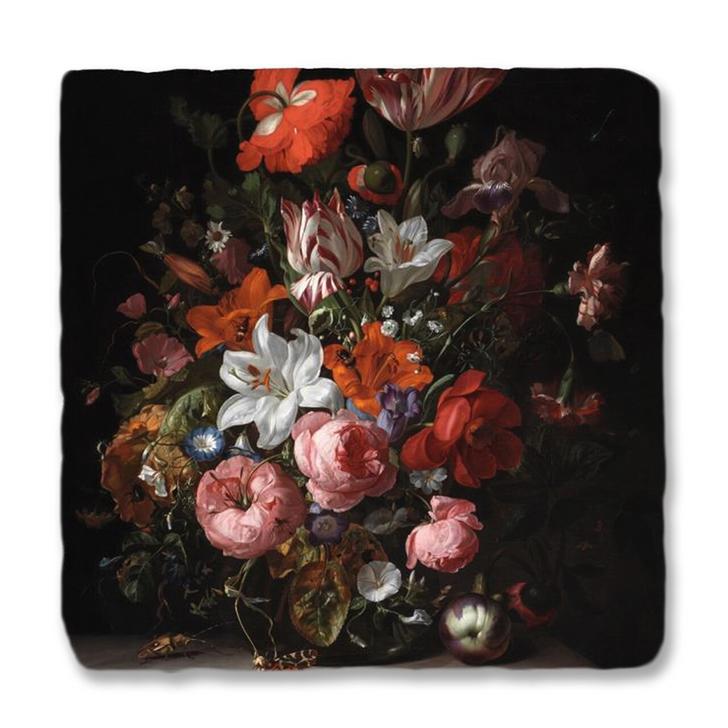 Flowers in a Glass Vase, Ruysch Trivet