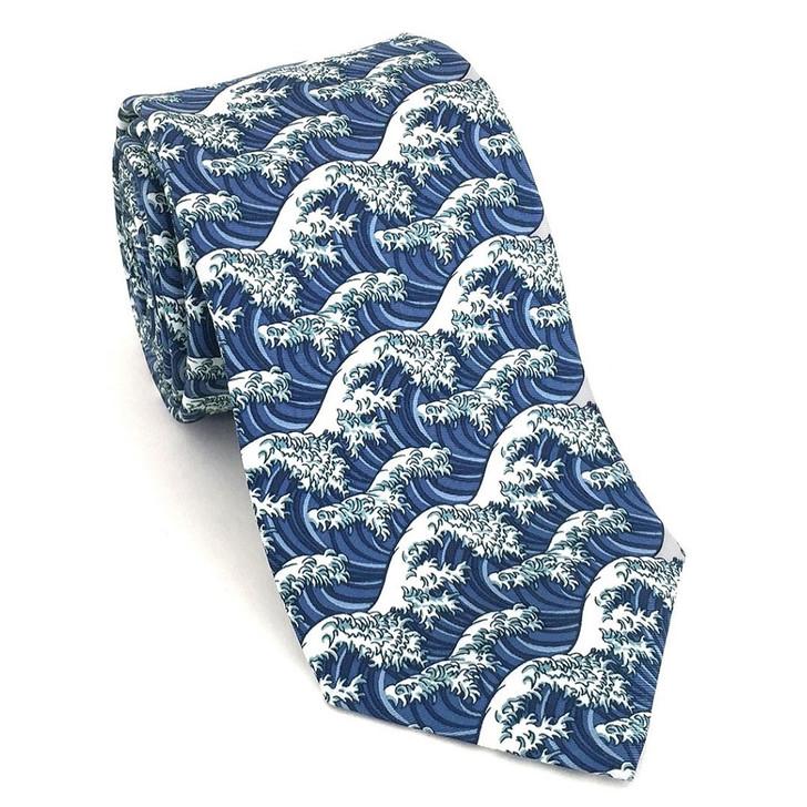 Hokusai Silk Tie