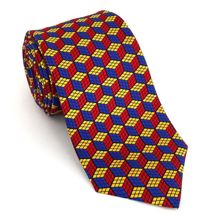 Cubix Silk Tie