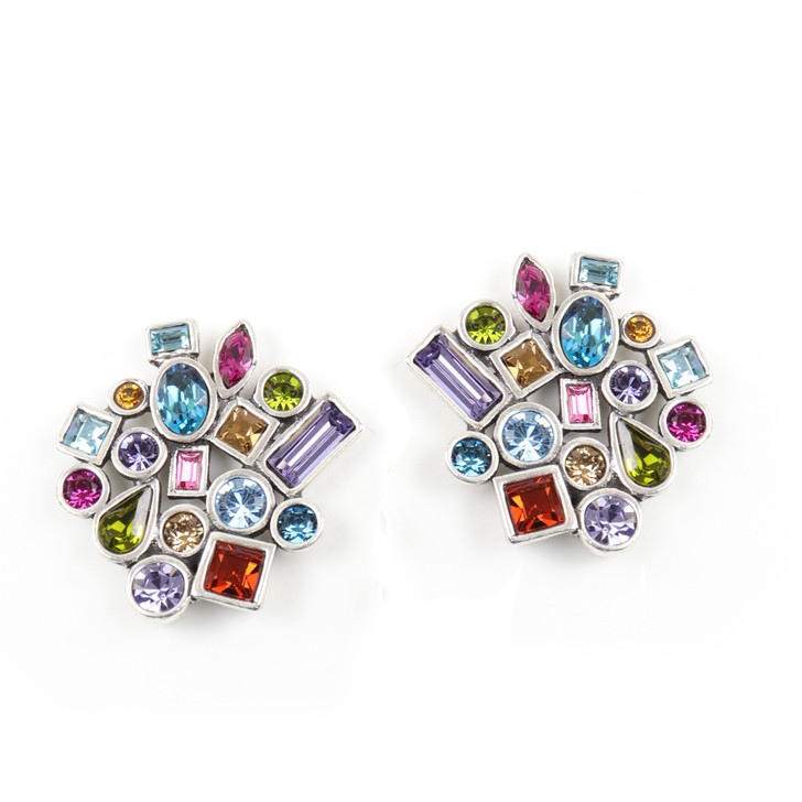 Patricia Locke Fling Confetti Clip Earrings