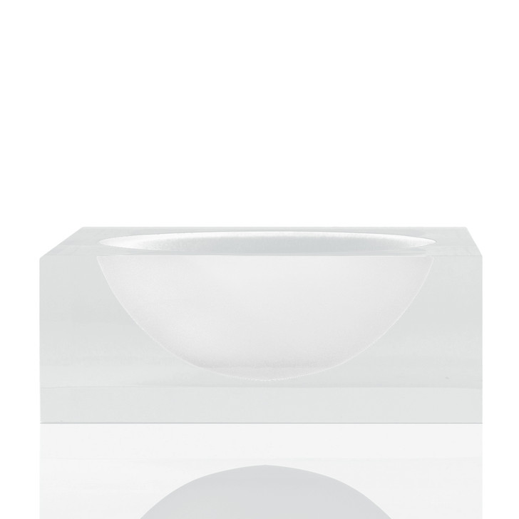 Frosted Lucite Bowl