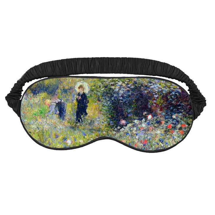 Woman with Parasol in a Garden, Renoir Sleeping Mask