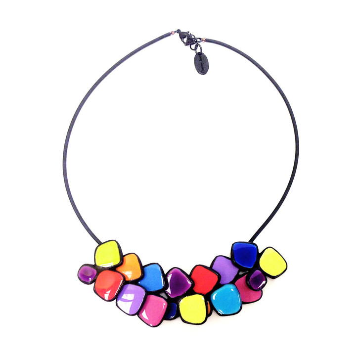 Large Klee Enamel Cluster Necklace