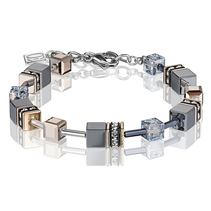Hematite Swarovski Bracelet