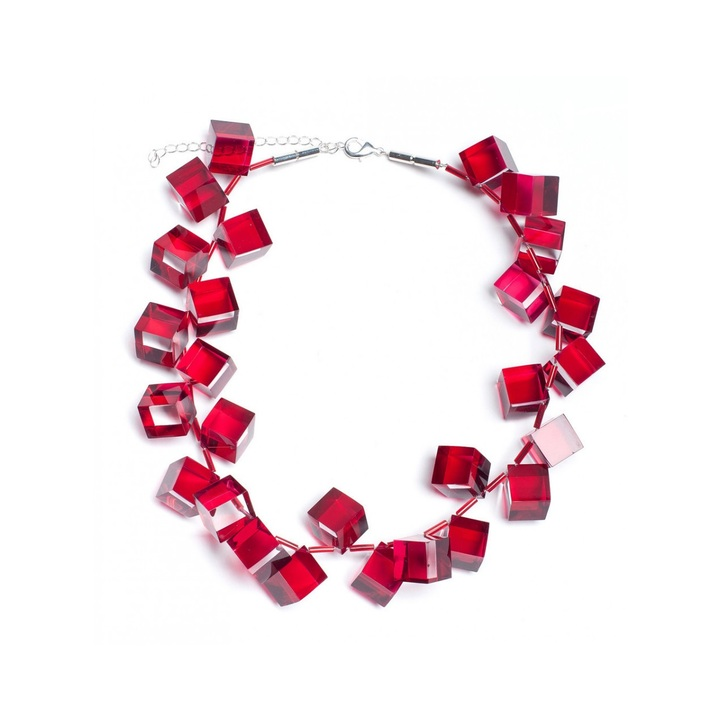 Red Cubes Necklace