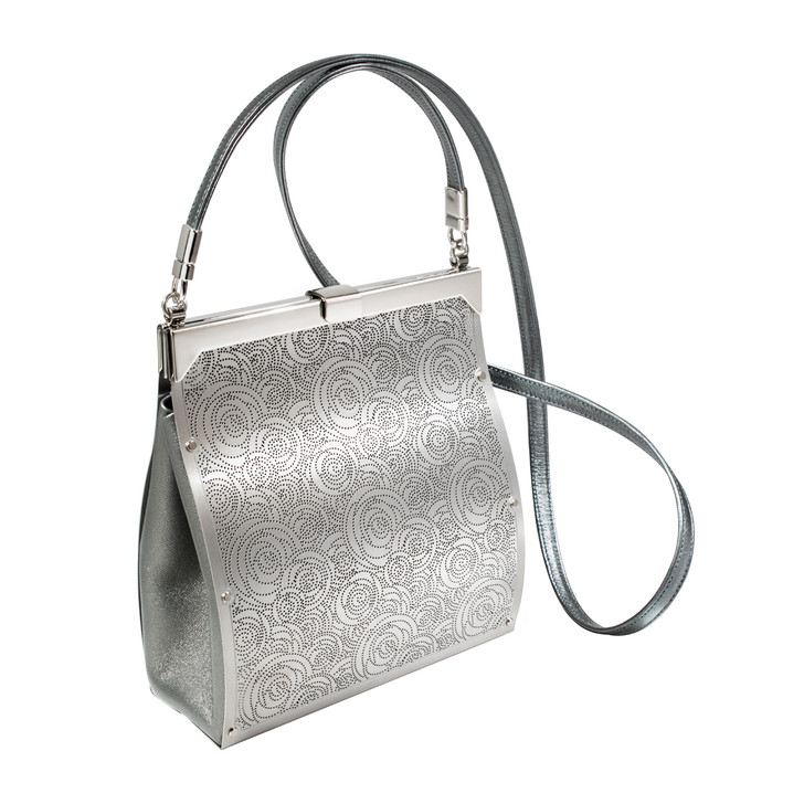 Roses Shoulder Bag, Silver